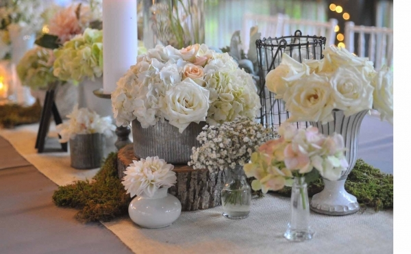 Marvelous Rustic Vintage Wedding Reception Ideas With Long Table And Small Wooden Chairs Also White Flowers Small Wedding Reception Ideas