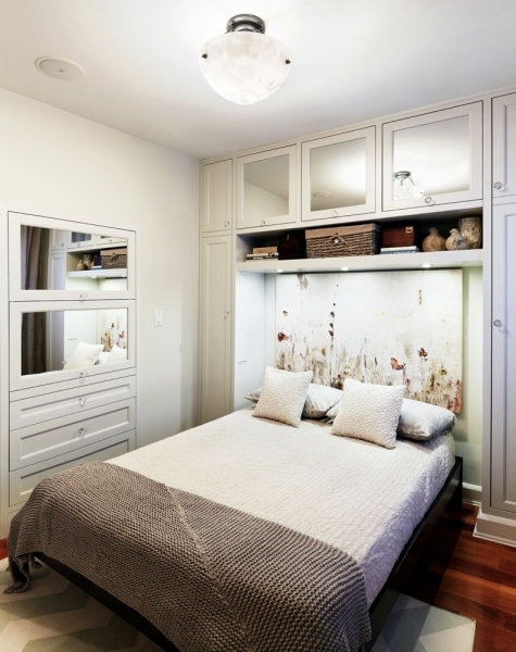 Picture of Decor Style Small Bedroom Ideas Featuring Varnish Wooden Floor And Small Bedroom Design With Wardrobe