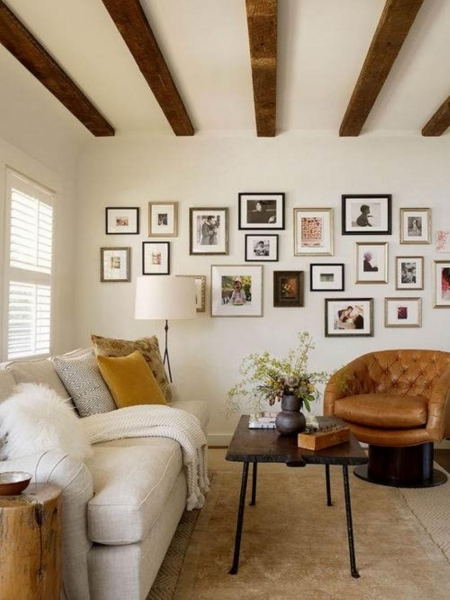 Picture of Inspiring Storage Space For Small Rooms Featuring Country Home Small Space Storage Living Room
