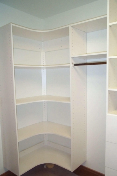 Picture of Wonderful Walk In Closet For Small Bedroom With Stylish And Corner Wardrobes For Small Rooms