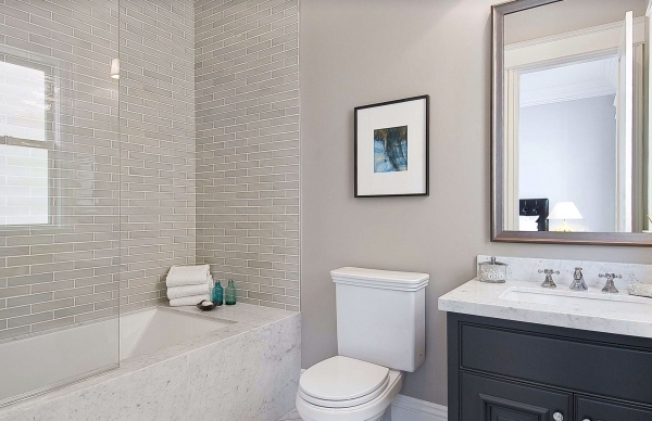 Stylish Bed Amp Bath Bathtub Remodel Ideas With Subway Tile Walls And Glass Small Bathroom Remodeling Subway Tile
