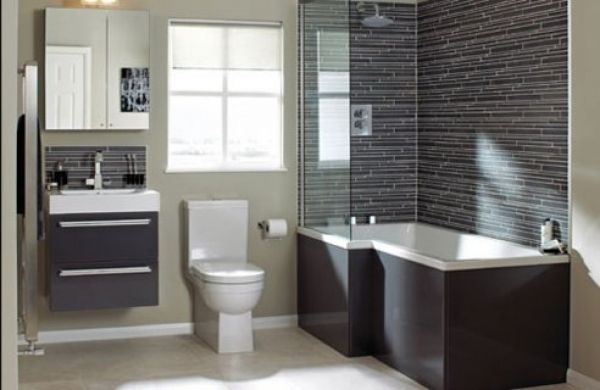 Wonderful The Unique Small Bathroom Colors Ideas Pictures Small Bathroom With Grey Color