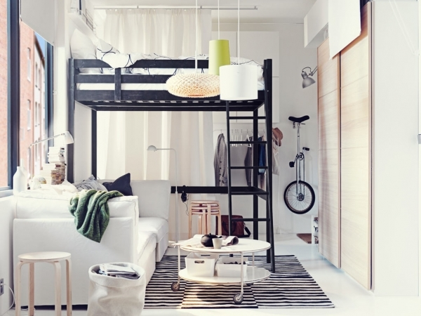 Alluring Amazing Interior Design Ikea Ideas For Small Appartments Small Bedroom Ideas Small Spaces