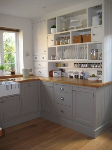 Amazing Beautiful White Yellow Wood Stainless Modern Design Small Space Kitchen For Small Space