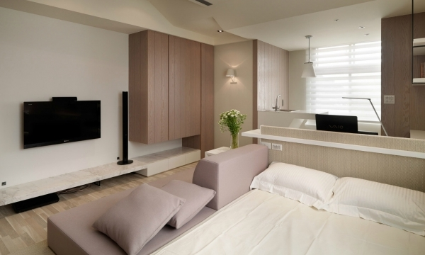 Amazing How To Decorate Studio Apartment With Arched Floor Lamp And Dining Small Studio Apartment Design Ideas