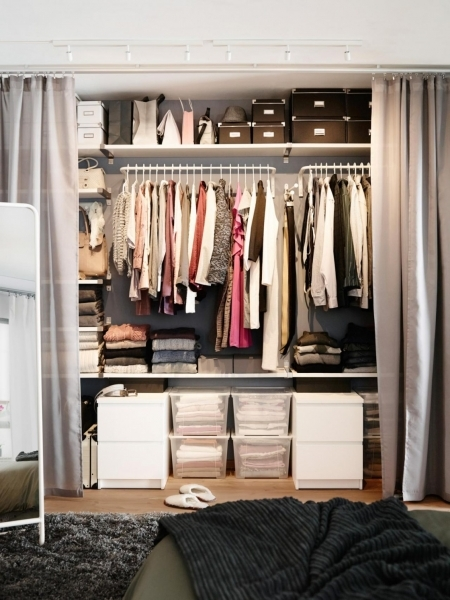 Awesome Simple Closet Storage For Small Space Solutions With Lovely Gray Wardrobe Small Space