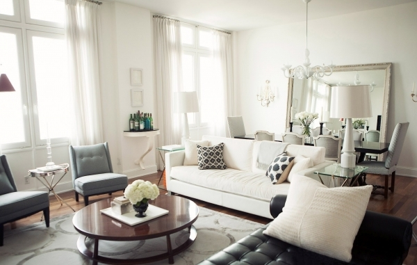 Fantastic Charming Living Room Dining Combo Design Ideas With White Leather Decorate Small Living Room Dining Room Combo