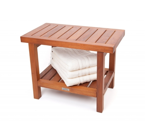 Gorgeous Teak Shower Bench Furniture In Bathroom Vjwebs Small Bench For Bathroom