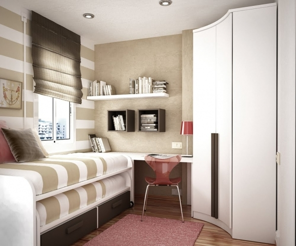 Image of Beautiful White Beige Wood Glass Stainless Unique Design Storage Solutions Solutions For Storage Small Bedrooms