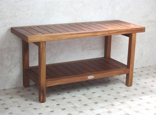 Image of Best Teak Shower Bench Design Ideas Amp Decors Small Bench For Bathroom