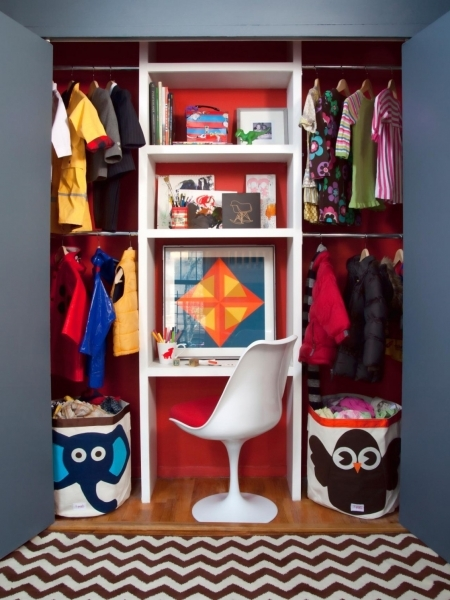 Image of Small Space Decorating Kids Room And Storage Ideas With Simple Wardrobe Small Space