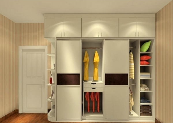 Inspiring Simple Closet Storage For Small Space Solutions With Lovely Gray Wardrobe Small Space
