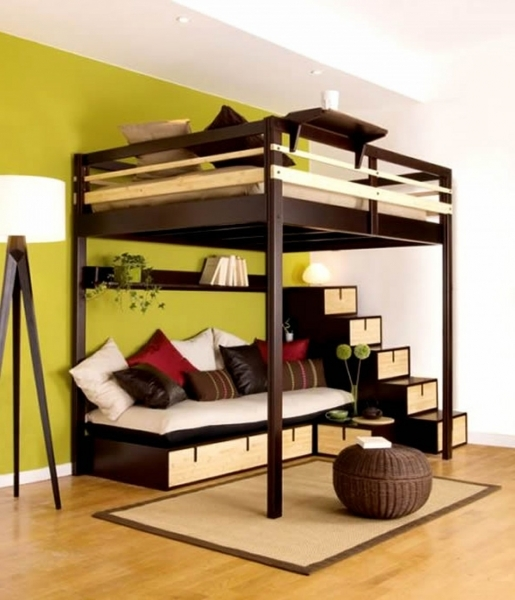 Marvelous Small Bunk Beds For Small Spaces Teen Girl Room With Loft Bed Small Room Loft Bed
