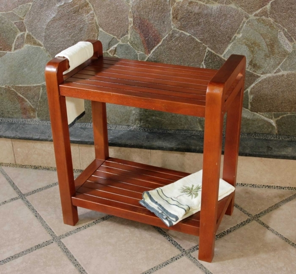 Outstanding Bed Amp Bath Stylish Teak Shower Bench For Bathroom Decor Www Small Bench For Bathroom