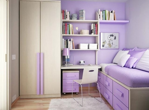 Best Shag Hand Tufted White Rug With Inspiring Purple Teen Bedroom And Small Bedroom Ideas For Teens