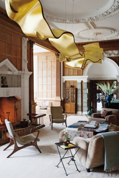 Delightful Architectural Digest Image Of Ribbon Light Ingo Mauer Google Imans Small Master Room Decorating Ideas