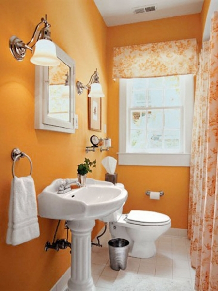 Image of Benjamin Moore39s Gray Lake Is A Similar Color Small Bathrooms Paint For Small Bathroom