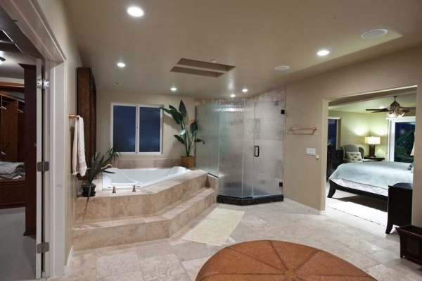 Outstanding Futuristic Master Bedroom Ideas Open Living Space For Small House Small Houses Master Bathrooms