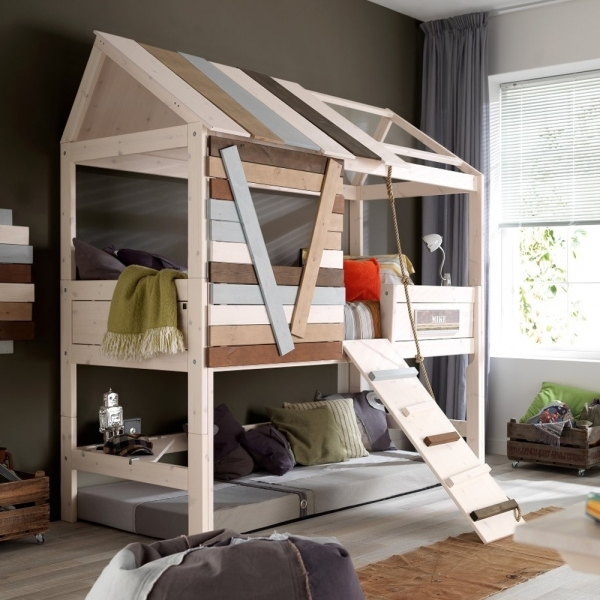 Remarkable Attractive Style Storage Of Children39s Bed With Fun And Rest Hubush Small Cabin Bedroom Ideas