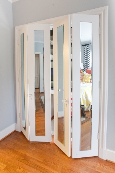 Remarkable No Room For A Door Try Using A Sliding Glass Door Great For Bedroom Closet Door Ideas For Small Spaces