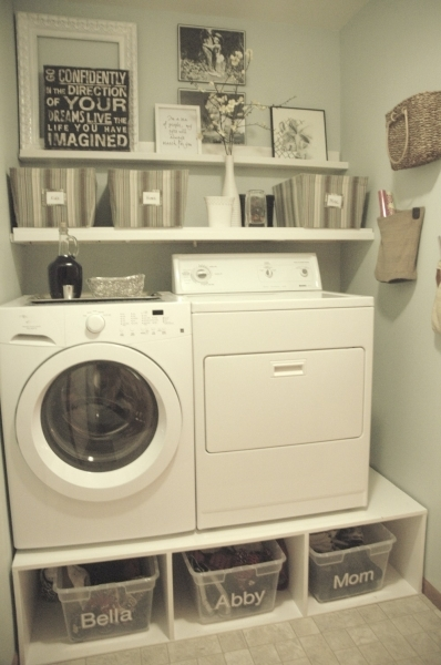 Remarkable Remodelaholic 25 Ideas For Small Laundry Spaces Cheap Laundry Room Storage Ideas For Small Spaces