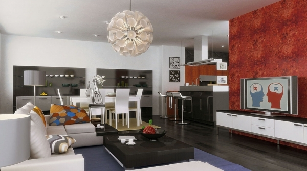 Amazing Decorating A Small Living Room Dining Room And Kitchen Combo Living Room Dining Room Small Spaces