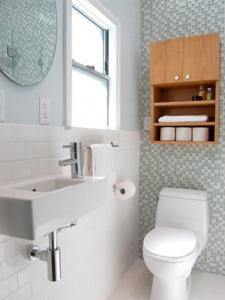 Fantastic With Ceramics Tile Wall Theme And Stainless Steel Sink Best Small Bathroom Designs