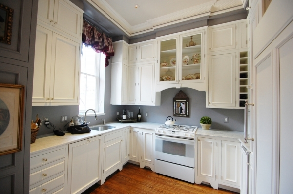 Image of Kitchen Wall Colors With White Cabinets Hotshotthemes Small Gray And Off White Kitchens