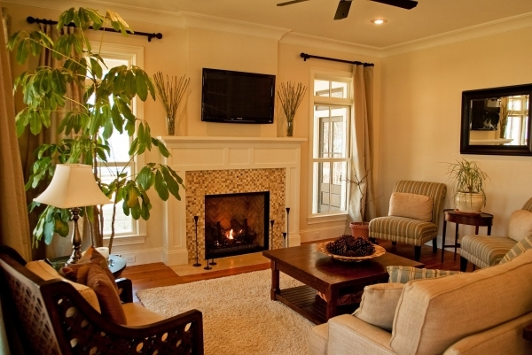 Incredible Decorating A Living Room With Fireplace And Tv Gillette Interiors Small Living Room With Fireplace And Tv