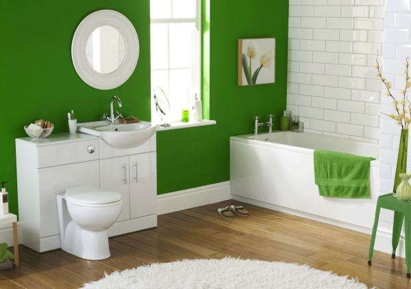 Wonderful Most Popular Green Wall Paint Colors Ideas For Best Small Bathroom Best Colours For Small Bathrooms