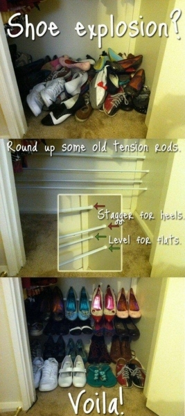 Image of 40 Clever Closet Storage And Organization Ideas Hative Small Closet Organize Efficiently