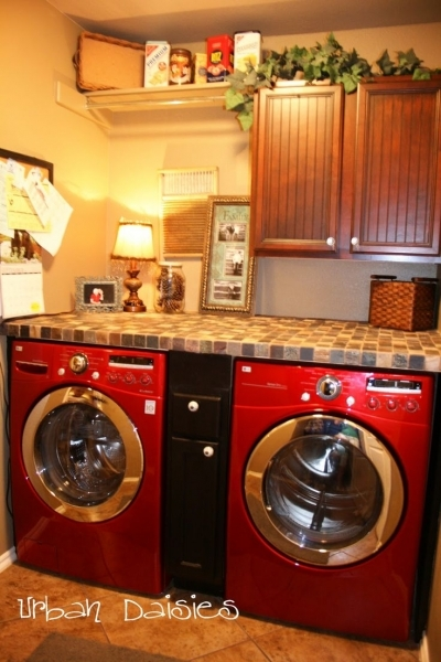 Alluring Add A Counter Over Washer And Dryer And Drawers In Between Diy Small Laundry Room With Red Washer And Dryer Photos 399