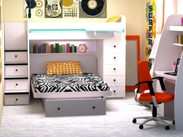 Delightful Furniture Space Saving Bunk Beds For Small Kids Room Space Space Saving Beds For Small Rooms