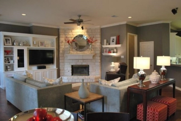 Image of How To Arrange Furniture In A Small Living Room With A Corner Small Room With Corner Fireplace Images