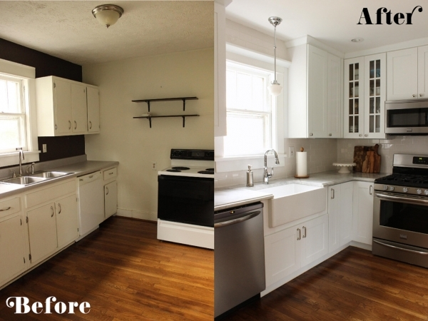 Image of Photo Kitchen Makeover Ideas Images Small Kitchen Makeovers On A Budget