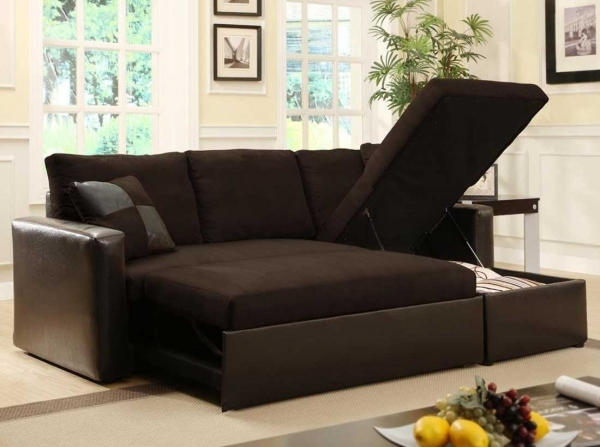 Incredible Furniture Black Adjustable Sectional Sofa Bed With Storage On Small Storage Sectional