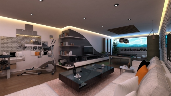 Outstanding Cool White Grey Wood Glass Modern Design Small Ideas Living Room Entertaient Small Room