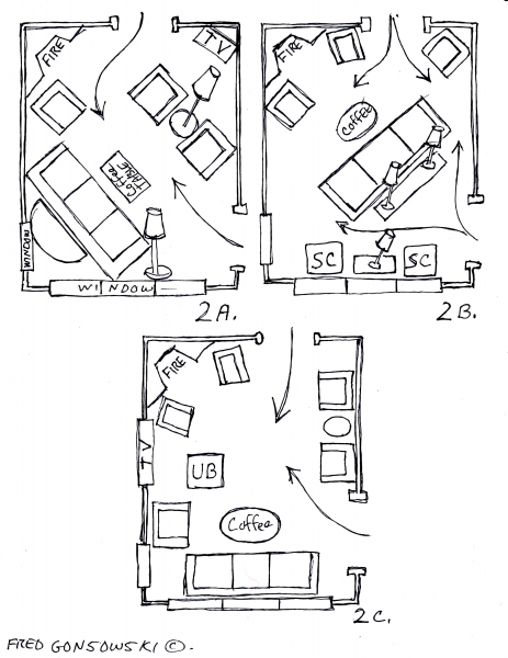 Picture of Arranging Furniture Around A Fireplace In The Corner Of A Room Small Room With Corner Fireplace Images