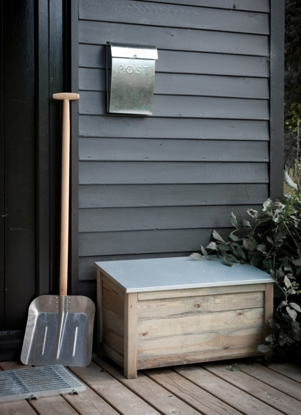 Stylish Wooden Outdoor Storage Box At Garden Trading Outdoor Storage For Small Spaces