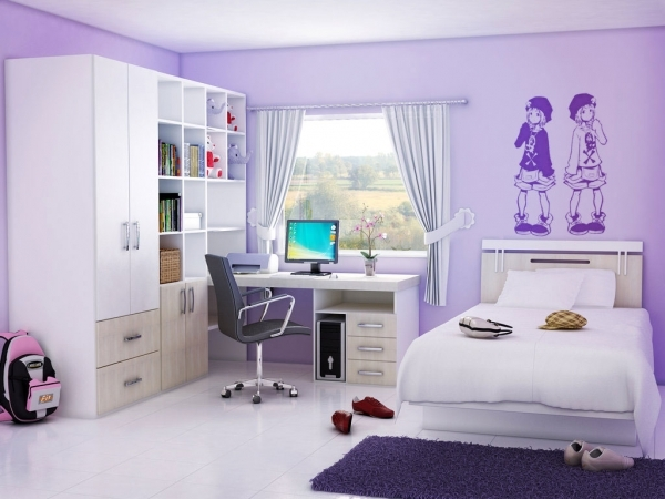 Awesome Bedroom Exclusive Home Interior Decor For Teen Bedroom Design Decorate A Teen Girls Bedroom With Single Size Bed And Small Room