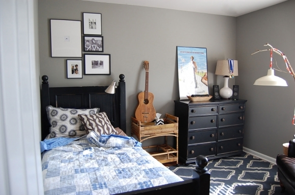 Awesome Vivacious Small Boys Room Paint Ideas Using Grey Wall Color With Grey Walls In Small Rooms