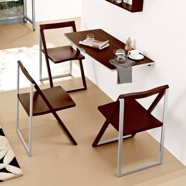 Beautiful Folded Dining Table Design For Limited And Stylish Dining Room Dining Room Furniture For Small Spaces