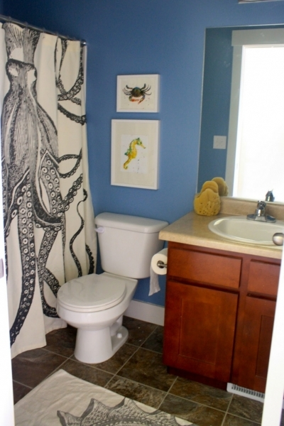 Best Small Bathroom Wall Color Ideas Features Gray Stained Wall And Small Bathroom Painting Ideas