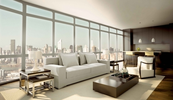 Delightful Beautiful Modern Living Room For Small Apartment With White Furnished Small Sized Living Room