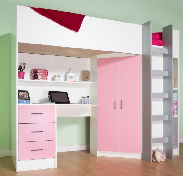 Delightful Bed Desk Ebay Cabin Beds For Small Rooms
