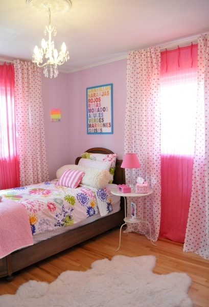 Fantastic Bedroom Wooden Flooring Single Bed Pink Wall Chandeleir Teens Room Decorate A Teen Girls Bedroom With Single Size Bed And Small Room