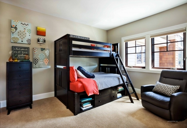 Inspiring Awesome Dark Brown Wood Unique Design Small Kids Room Ideas Cool Bedrooms For Small Rooms Ideas For Guys