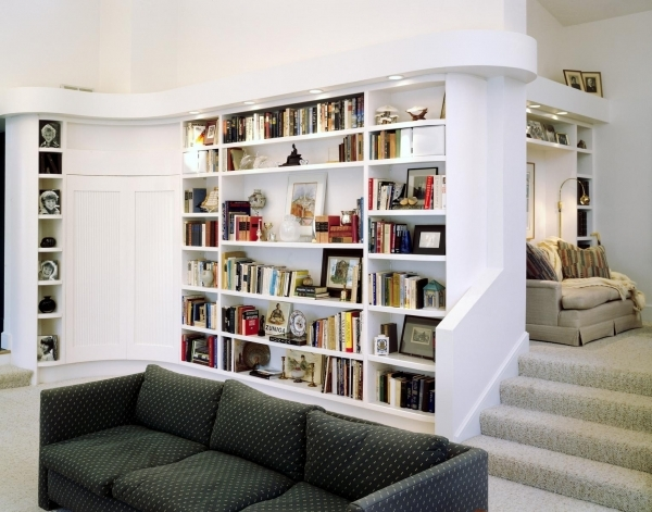 Marvelous Amazing Corner Bookcase For Beautiful Concept Design Home Design Shelving For Small Spaces