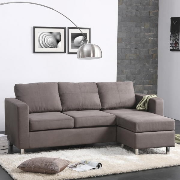 Stunning Dorel Living Small Spaces Right Hand Facing Sectional Amp Reviews Small Sofas For Small Spaces