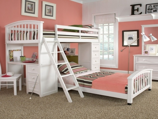 Awesome Adorable Tween Girls Bedroom Ideas With Red Purple Wooden Round Small Rooms For 3 Girls